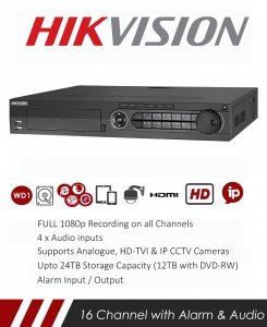 Hikvision DS-7316HQHI-K4 Turbo HD DVR CCTV Real Time 1080p Recorder with Network and Mobile phone remote viewing