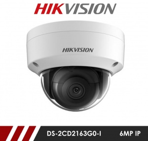 Hikvision DS-2CD2163G0-I-2.8MM 6MP Network IP CCTV Dome Camera 30m IR 2.8mm Fixed Lens