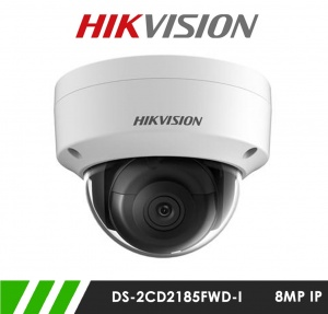 Hikvision DS-2CD2185FWD-I 8MP 4K Network IP CCTV Dome Camera 30m IR  2.8mm Fixed Lens