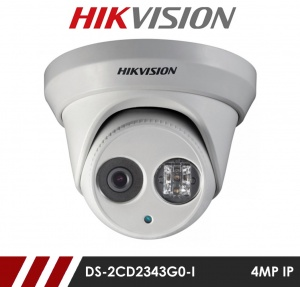 Hikvision DS-2CD2343G0-I 4MP Network IP CCTV Dome Camera 30m IR 4mm Fixed Lens