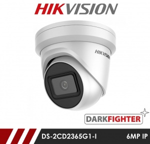 Hikvision Darkfighter DS-2CD2365G1-I 2.8MM 6MP Network IP CCTV Dome Camera 30m IR 2.8mm Fixed Lens