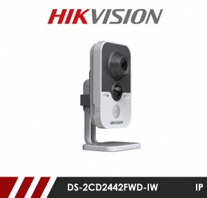 Hikvision DS-2CD2443G0-IW-2.8MM 4MP WiFi IR Cube Camera with PoE 2.8mm Fixed Lens