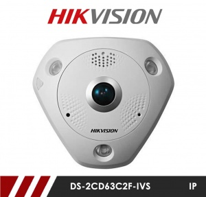 Hikvision DS-2CD63C2F-IVS 12MP 360° Fisheye CCTV Camera with 15m IR