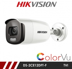 Hikvision 2MP DS-2CE12DFT-F Full time Colour Bullet Camera up to 40m White Light Distance