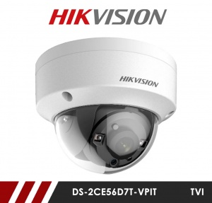 Hikvision DS-2CE56D7T-VPIT Anti Vandal 3.6mm Fixed Lens HD-TVI CCTV Camera - White