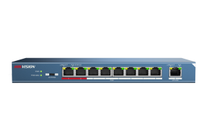 8-ports, 100Mbps, 51VDC, Unmanaged PoE Switch 123W