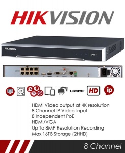 Hikvision DS-7608NI-K2/8P 8CH NVR CCTV Recorder