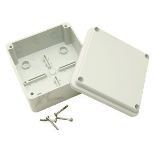 IP55 Waterproof Junction Box - 100 x 100 x 60mm - Grey