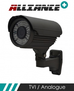 Alliance HD-TVI / Analogue CCTV Bullet Camera 60m IR 2.8mm - 12mm Varifocal Lens - Graphite (Quad Output)