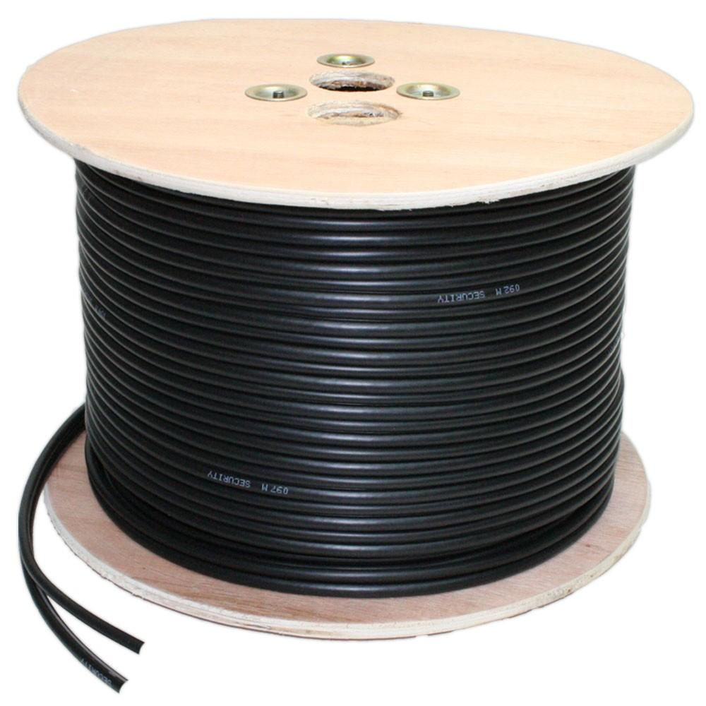 mie cctv 100m high quality cctv video coax cable black. Black Bedroom Furniture Sets. Home Design Ideas