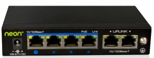 Economy 4 Port PoE Ethernet Switch, 60W Power Adapter Included