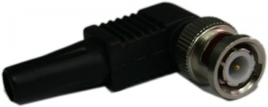 BNC Male Right Angle CCTV Connector for RG59 & Coax