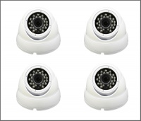 4 x Alliance Plus 3MP HD-TVI 1080p Dome CCTV Camera 20m IR 3.6mm Fixed Lens - White (Quad Output)