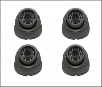 4 x Alliance Plus 2MP HD-TVI 1080p Dome CCTV Camera 20m IR 3.6mm Fixed Lens - Graphite (Quad Output)