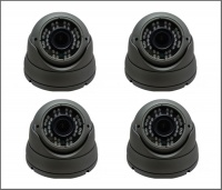 4 x Alliance Plus 3MP HD-TVI / Analogue Dome CCTV Camera 30m IR 2.8-12mm Varifocal Lens - Graphite (Quad Output)