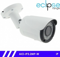 Eclipse IP 3MP IP CCTV Bullet Camera 30m IR 2.8-12mm Varifocal Lens - White