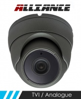 Alliance HD-TVI 1080p Dome CCTV Camera 20m IR 3.6mm Fixed Lens - Graphite (Quad Output)