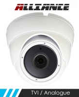 Alliance HD-TVI 1080p Dome CCTV Camera 20m IR 3.6mm Fixed Lens - White (Quad Output)