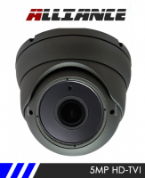 Alliance 5MP 1944p HD-TVI CCTV Camera 30m IR 2.8-12mm Varifocal Lens - Grey