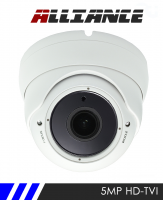 Alliance 5MP 1944p HD-TVI CCTV Camera 30m IR 2.8-12mm Varifocal Lens - White