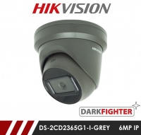 Hikvision Darkfighter DS-2CD2365G1-I/GREY  2.8MM 6MP Network IP CCTV Dome Camera 30m IR 2.8mm Fixed Lens - Grey