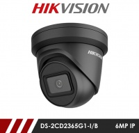 Hikvision DS-2CD2365G1-I/B 2.8MM 6MP Network IP CCTV Dome Camera 30m IR 2.8mm Fixed Lens - Black
