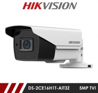 Hikvision 5MP DS-2CE16H1T-AIT3Z 2.8-12mm Motorised Varifocal Lens HD-TVI Bullet CCTV Camera - White