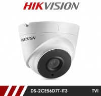 Hikvision 2MP DS-2CE56D7T-IT3 3.6mm Fixed Lens HD-TVI CCTV Camera - White