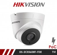 Hikvision 2MP DS-2CE56D8T-IT3E Ultra Low Light POC 3.6mm Fixed Lens HD-TVI CCTV Camera - White