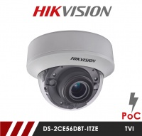Hikvision DS-2CE56D8T-ITZE Anti Vandal POC 2.8-12mm Lens HD-TVI CCTV Camera - White