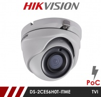 Hikvision 5MP Fixed Lens Dome DS-2CE56H0T-ITME 2.8MM POC HD-TVI CCTV Camera - White