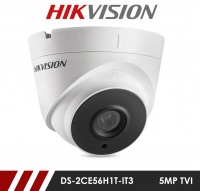 Hikvision 5MP DS-2CE56H1T-IT3 2.8mm Fixed Lens HD-TVI CCTV Camera - White