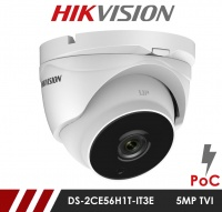 Hikvision 5MP DS-2CE56H1T-IT3E 3.6mm Fixed Lens HD-TVI CCTV Camera with POC - White