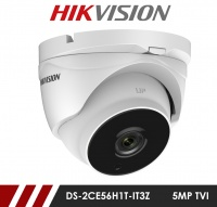Hikvision 5MP DS-2CE56H1T-IT3Z 2.8-12mm Motorised Varifocal Lens HD-TVI CCTV Camera - White