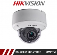 Hikvision 8MP DS-2CE59U8T-VPIT3Z 2.8-12mm Motorised Varifocal Lens HD-TVI Anti vandal Camera - White