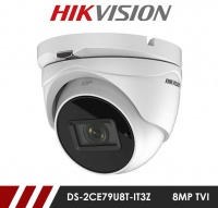 Hikvision 8MP DS-2CE79U8T-IT3Z 2.8-12mm Motorised Varifocal Lens HD-TVI CCTV Camera - White