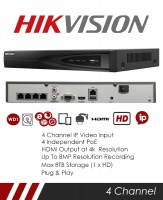 Hikvision DS-7604NI-K1-4P 4CH NVR CCTV Recorder
