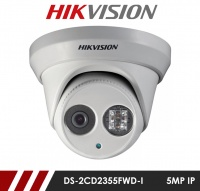 Hikvision DS-2CD2355FWD-I-2.8MM 5MP Network IP CCTV Dome Camera 30m IR 2.8mm Fixed Lens