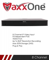 MaxxOne Elite M1P-NX208-A 8 Channel 2 SATA 8 Port PoE NVR