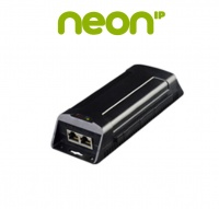 NEON Single-port PoE injector 60 w, 1 x Ethernet port, 1 x PoE output port, 1 x AC input power port, 10/100M/1000Mbps