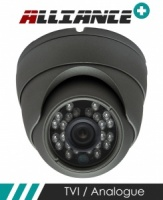 Alliance Plus 3MP HD-TVI 1080p Dome CCTV Camera 20m IR 3.6mm Fixed Lens - Graphite (Quad Output)
