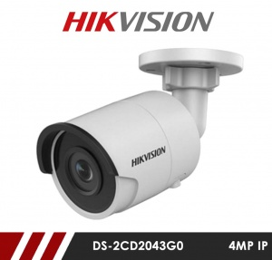 Hikvision DS-2CD2043G0-I-2.8MM 4MP Network IP CCTV Bullet Camera 30m IR 2.8mm Fixed Lens