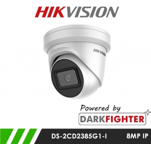Hikvision DS-2CD2385G1-I 8MP Powered by Darkfighter Network IP CCTV Dome Camera 30m IR 2.8mm Fixed Lens