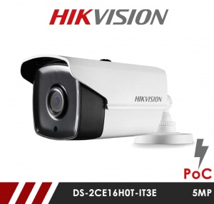 Hikvision 5MP DS-2CE16H0T-IT5F 3.6mm Fixed Lens HD-TVI Bullet CCTV Camera with POC - White