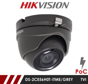 Hikvision 5MP Fixed Lens Dome DS-2CE56H0T-ITME/GREY 2.8MM POC HD-TVI CCTV Camera - Grey