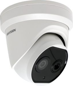 Hikvision DS-2TD1217-2/V1 1.8mm fixed lens thermal network turret camera