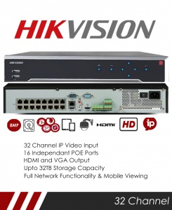 Hikvision DS-7732NI-K4/16P 32CH NVR CCTV Recorder