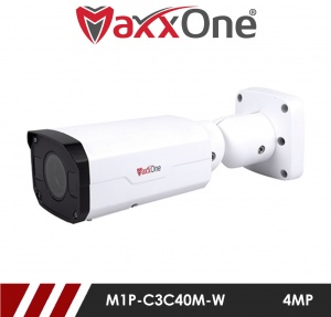 4 Megapixel 2.8-12mm Varifocal Motorised Lens 30M IR IP67, Micro SD up to 128GB Supported, Network Bullet Camera White
