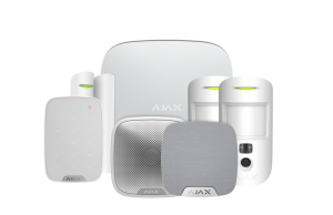 Ajax Wireless Alarm with Hub 2 House Kit 3 - White