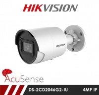 Hikvision DS-2CD2046G2-IU 4MP AcuSense IR Fixed Bullet Network Camera With Built-In Microphone